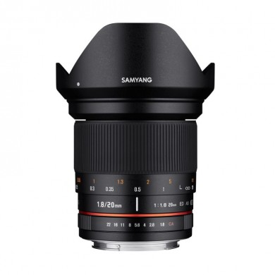 Samyang 20mm F1,8 ED AS UMC Canon