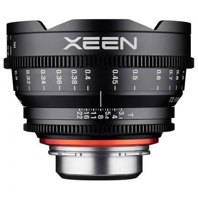 Objectif vidéo Xeen 14mm T3.1 Sony FE - échelle en PIED