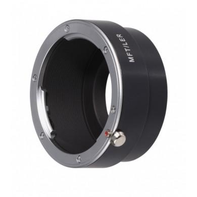 Bague adaptatrice Micro Quatre Tiers pour objectifs Leica R. Novoflex MFT-LER (4030432731179)