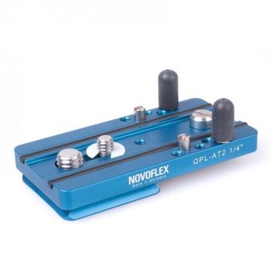 Platine Novoflex Q anti-rotation 80mm avec connecteur