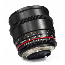 Optique cine Samyang 85mm T1.5 VDSLR Monture Canon Ref SAM85T15CANON