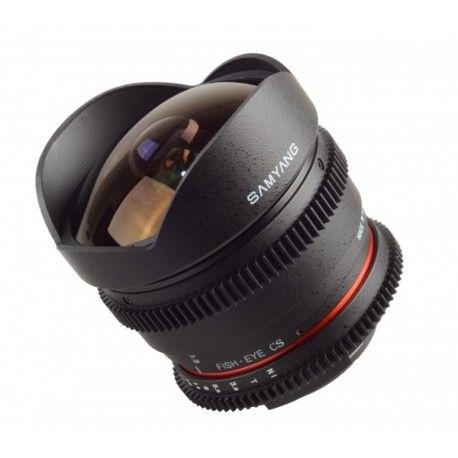 Optique cine Fisheye Samyang 8mm VDSLR T3,8 CS Canon version II