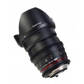 Optique cine Samyang 24mm T1.5 VDSLR compatible avec Canon EF