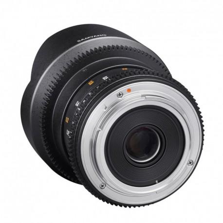 Samyang 14mm T3.1 VDSLR compatible avec Canon EF