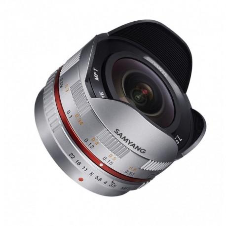 Objectif Fisheye Samyang 7,5mm F3,5 Micro 4/3 Argent (8809298882914)