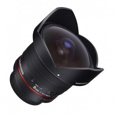 Objectif Fish-eye Samyang 8mm F3.5 version II pour reflex Canon