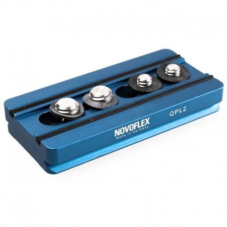 Platine Q 84mm avec vis 1/4'' et 3/8'' Novoflex