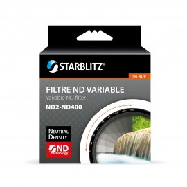 Filtre 62 mm à Densité Neutre Variable ND2 à ND400 Starblitz