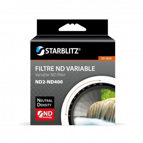Filtre 58 mm à Densité Neutre Variable ND2 à ND400 Starblitz