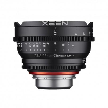 Objectif vidéo Xeen 14mm T3.1 Canon EF / Echelle en PIED (ft)