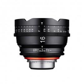 Optique vidéo Xeen 16 mm T2.6 Canon EF Echelle en METRE