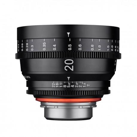 Optique vidéo Xeen 20mm T1.9 Canon EF - Échelle en METRE