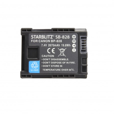 Batterie Starblitz compatible Canon BP828