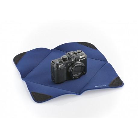 Protection APN Novoflex pour objectif en tissu-mousse 28x28 Bleu
