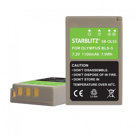 Compatible Olympus PS BLS5 Batterie rechargeable Lithium-ion