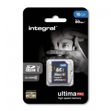 INTEGRAL Carte SDHC 16GB Class 10 80MB/s
