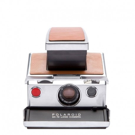 Appareil photo reconditionné Polaroid SX70 Coloris argent Marron