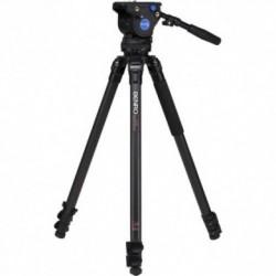 Benro C373FBV4H Kit trépied carbone S3 avec tête vidéo BV4H