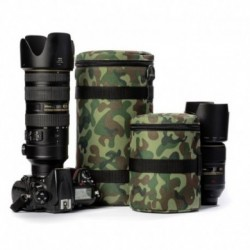 Etui pour objectif en tissu camouflage taille 85*150 mm