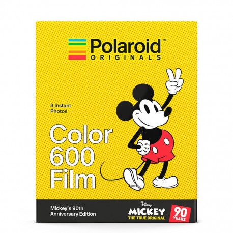 8 poses couleur Edition 90 ans Mickey pour Polaroid 600